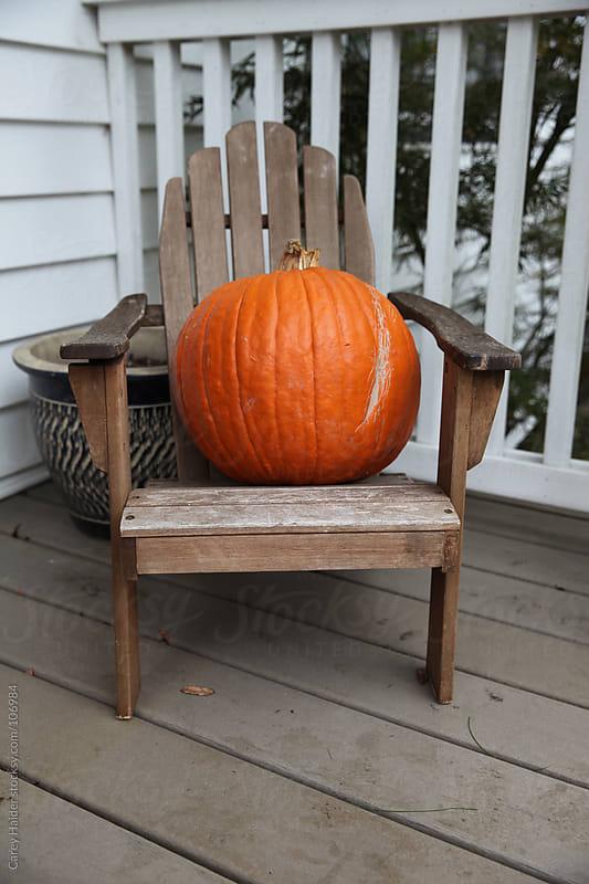 Orange Halloween Pumpkin by Carey Haider for Stocksy United