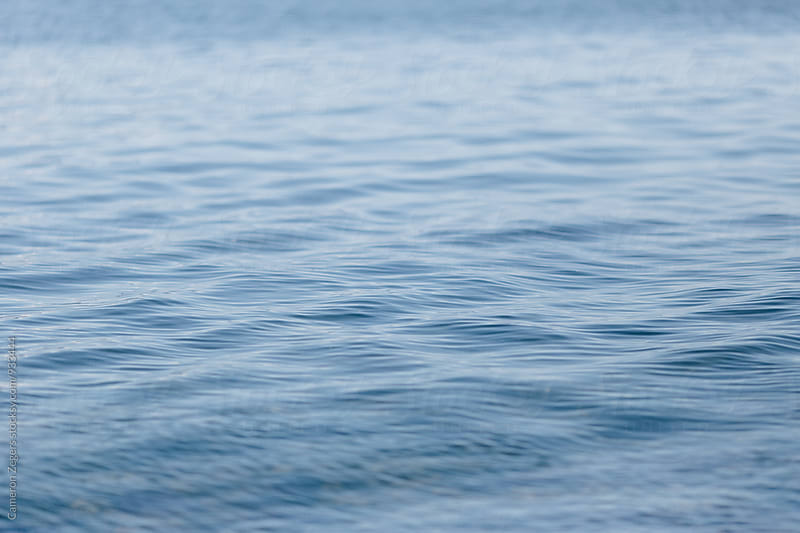 ripples on calm ocean water by Cameron Zegers for Stocksy United