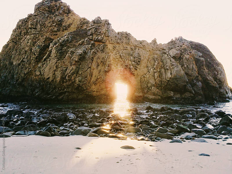 Pfeiffer Beach shot on Iphone by Christian Gideon for Stocksy United