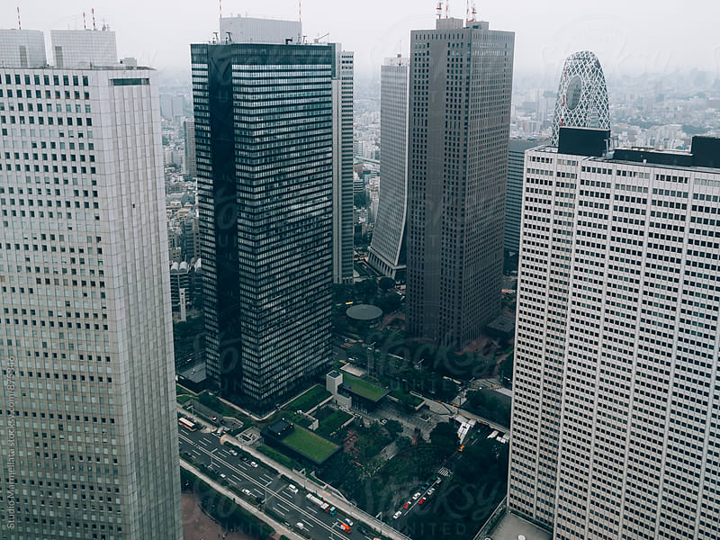 cityscape view of Tokyo by Juri Pozzi for Stocksy United