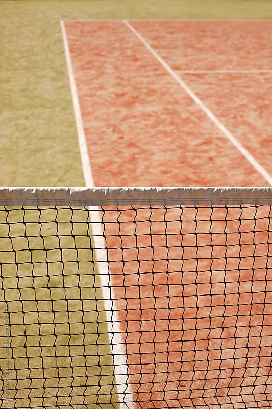Tennis court detail by Bratislav Nadezdic for Stocksy United