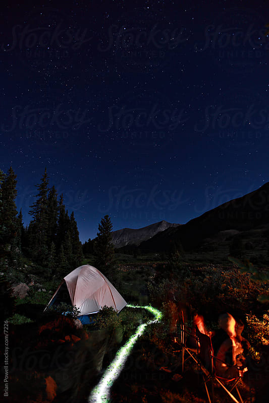 campsite in the Colorado Rocky Mountains by Brian Powell for Stocksy United