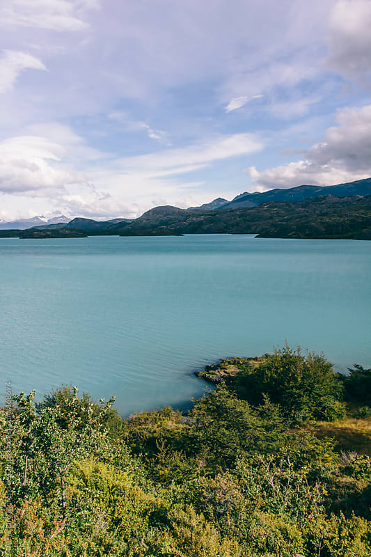 Turquoise lake in Torres del Paine, Chile, Patagonia by Alejandro Moreno de Carlos for Stocksy United