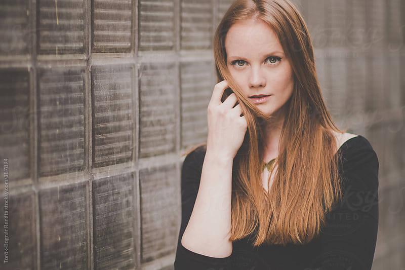 Beautiful red-haired woman portrait by Török-Bognár Renáta for Stocksy United