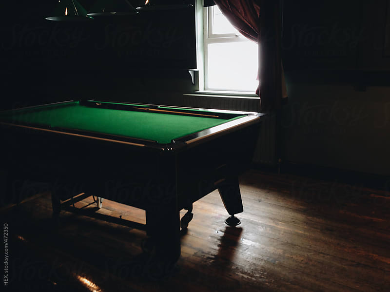 Billiard Table into a Empty Pub by HEX. for Stocksy United