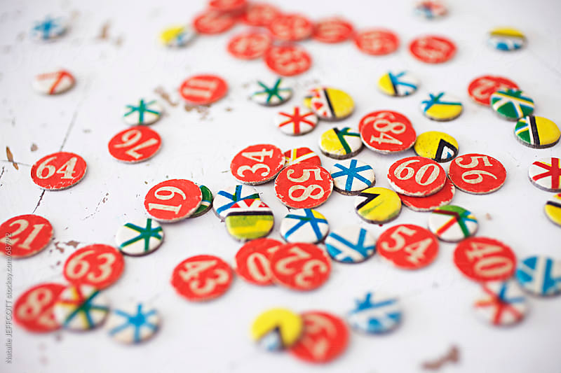 colourful numbers by Natalie JEFFCOTT for Stocksy United
