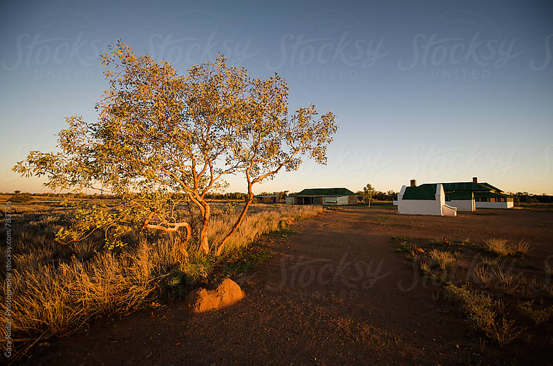 Path in the Outback Leading to House by Gary Radler Photography for Stocksy United