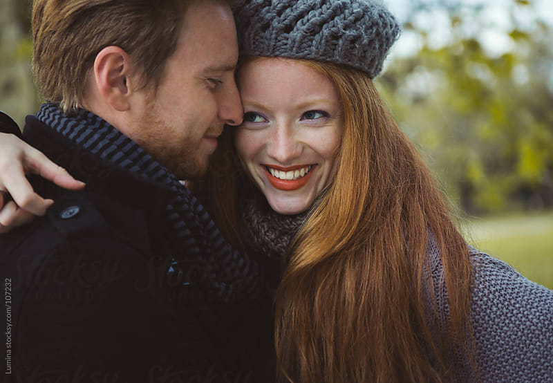Red-Haired Couple in Love by Lumina for Stocksy United