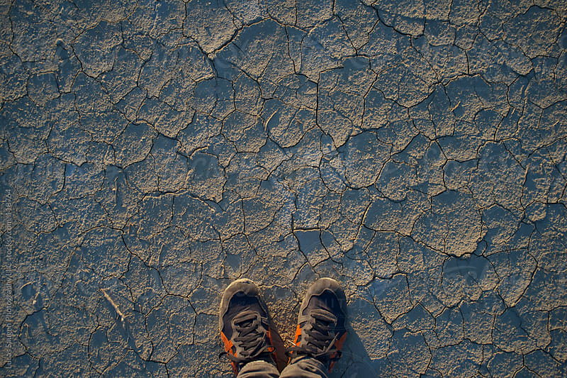 Looking down at the the Salt Flats. by Lucas Saugen for Stocksy United
