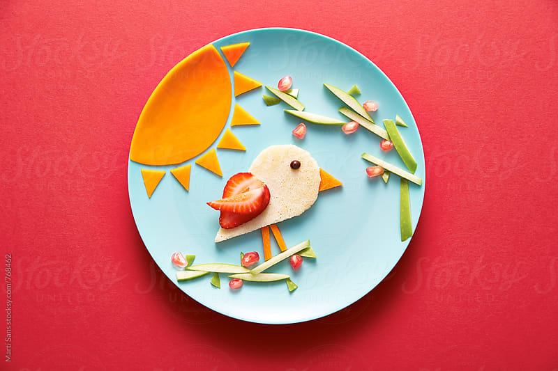 Animal shaped food for kids  by Martí Sans for Stocksy United
