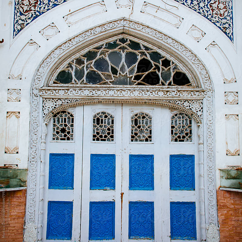 Door of an old mosque by Murtaza Daud for Stocksy United