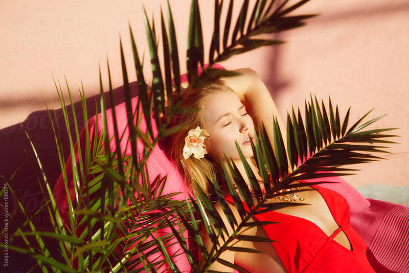 beauty daydreaming in the sun by Sonja Lekovic for Stocksy United