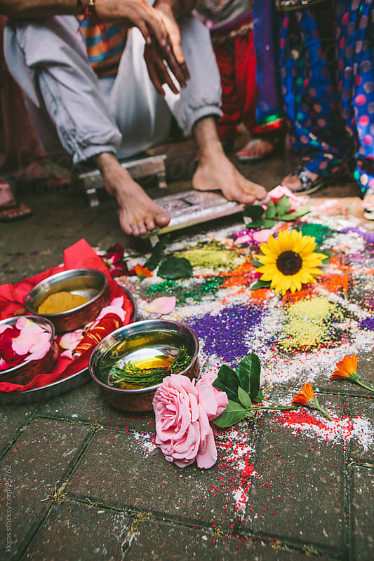 Mayian turmeric ceremony during a sikh wedding by kkgas for Stocksy United