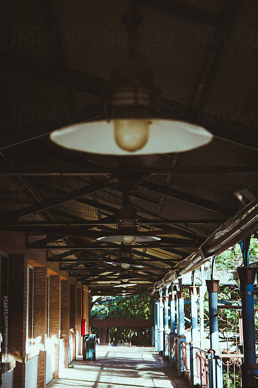 Old iron train station by Leandro Crespi for Stocksy United