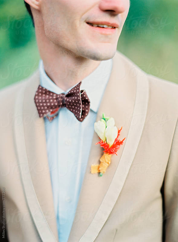 Handsome Groom Portrait by Milles Studio for Stocksy United