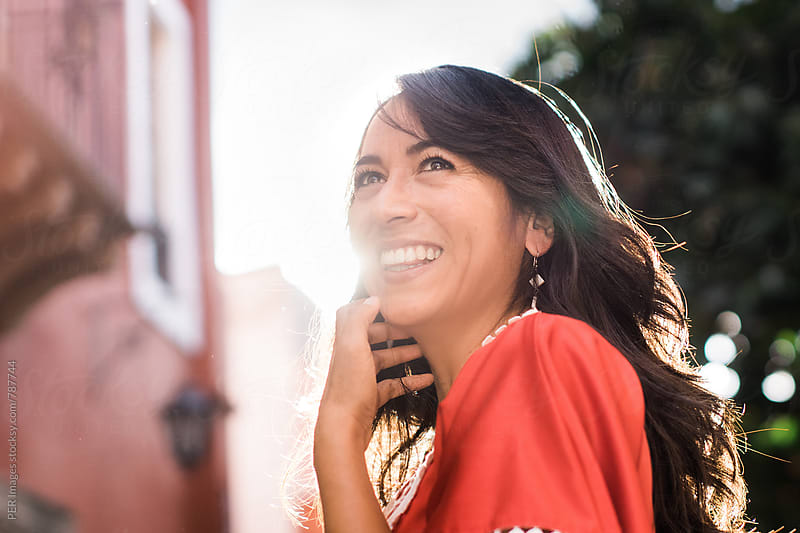 Happy Mexican woman by Per Swantesson for Stocksy United