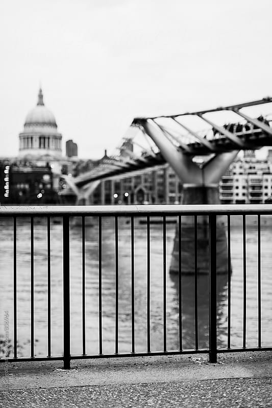 Millennium Bridge in London by Mauro Grigollo for Stocksy United