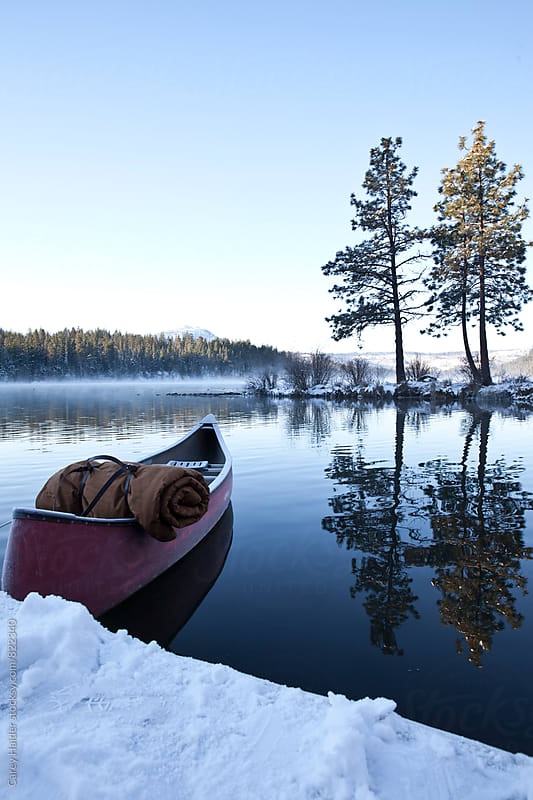 Winter Canoeing by Carey Haider for Stocksy United