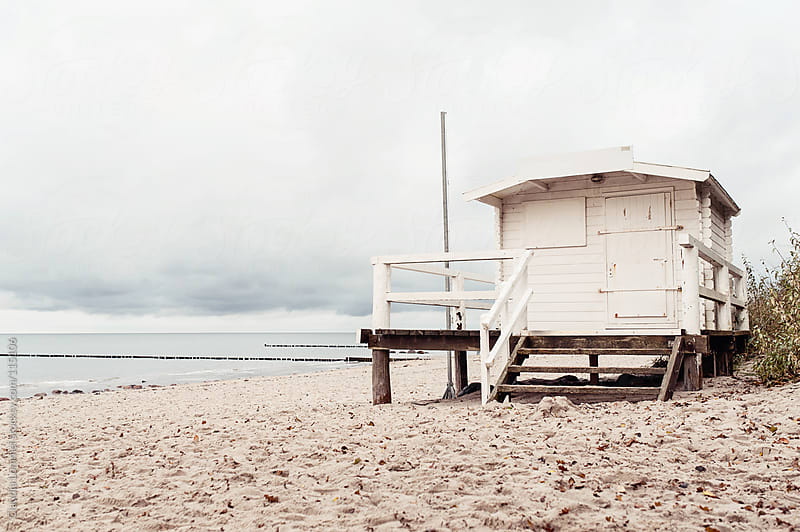 Old Wooden Cabin at the Beach, Baltic Sea, Germany, Europe by Claudia Lommel for Stocksy United