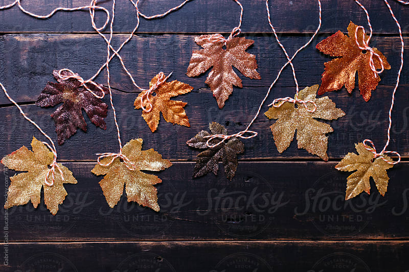 Glittery fall leaves backdrop by Gabriel (Gabi) Bucataru for Stocksy United