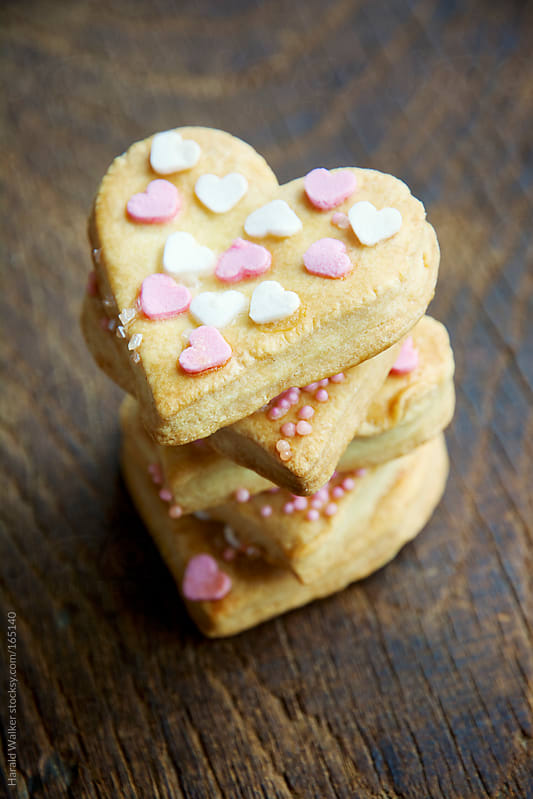 Heart cookies by Harald Walker for Stocksy United