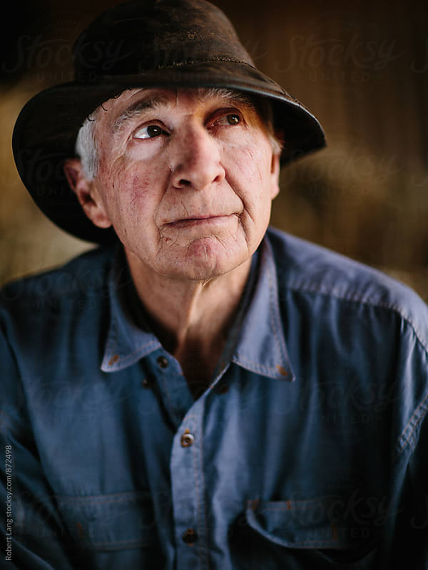 Portrait of an Australian farmer by Robert Lang for Stocksy United