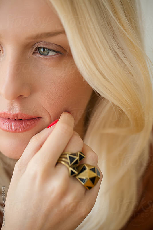 Woman With a Golden Ring by Lumina for Stocksy United