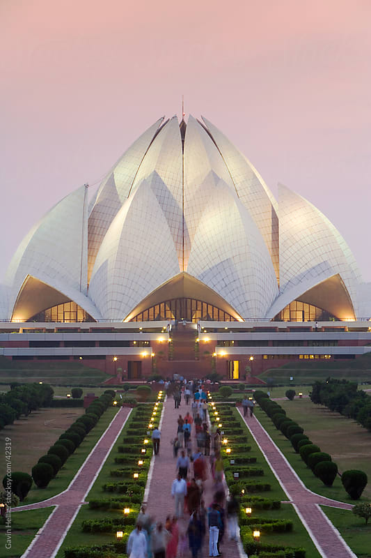 India, Delhi, Lotus Temple, the Baha'i House of Worship, popularly known as the Lotus Temple by Gavin Hellier for Stocksy United