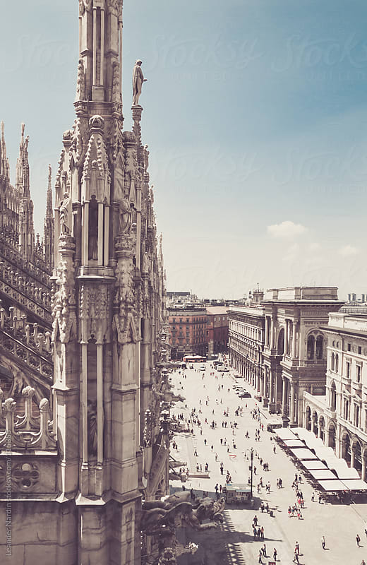 View from the duomo in milan by Leander Nardin for Stocksy United