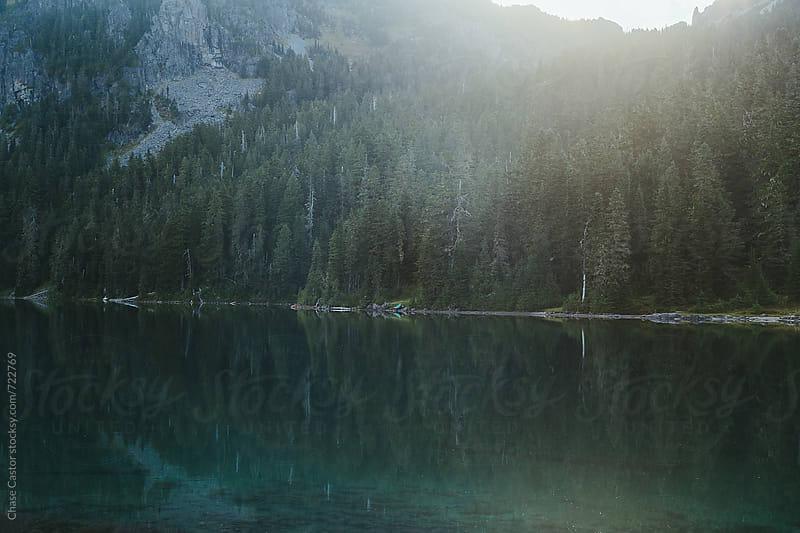 Mountain Range Sunrise by Chase Castor for Stocksy United