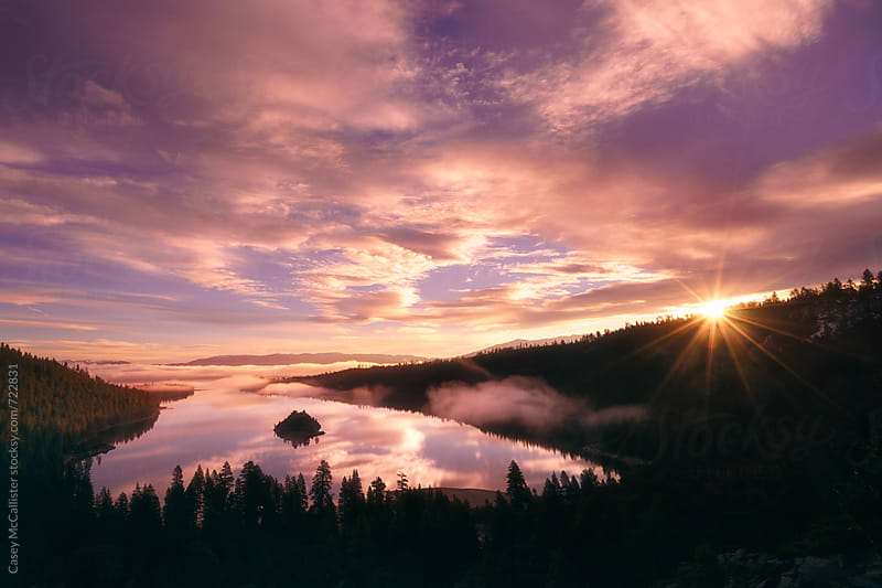 Lake Tahoe Sunrise by Casey McCallister for Stocksy United