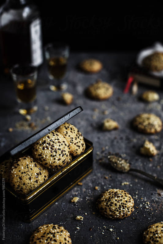 Crunchy seed cookies by Federica Di Marcello for Stocksy United