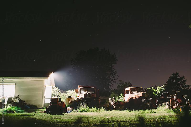 Farm in Dark by Matt Lief Anderson for Stocksy United