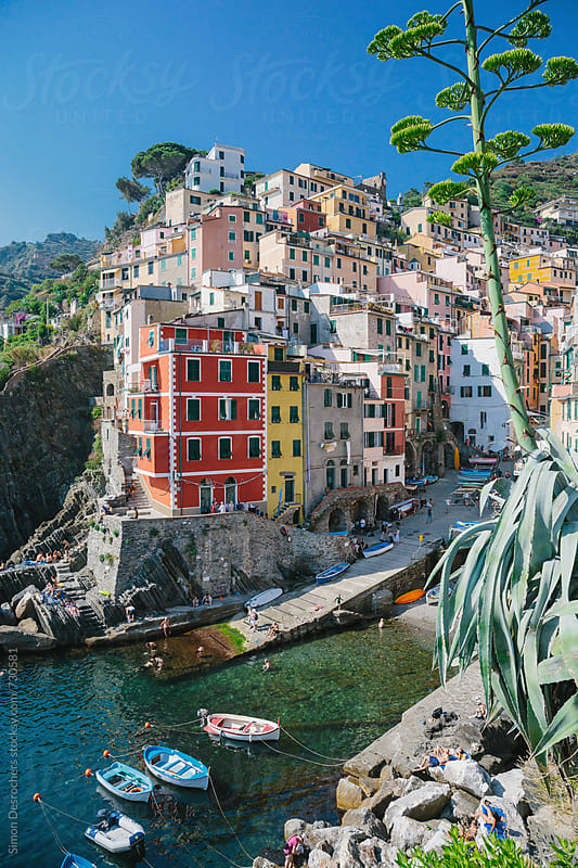 Riomaggiore in the Cinque Terre by Simon DesRochers for Stocksy United