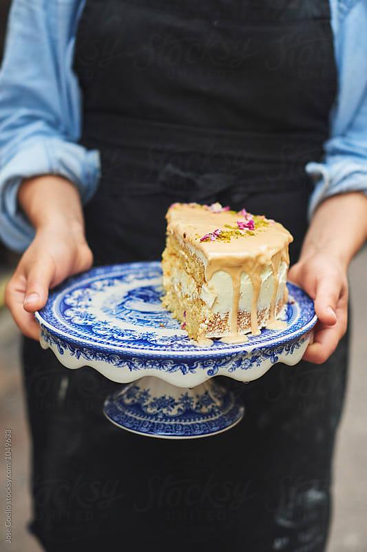 Elderflower  Cake by Jose Coello for Stocksy United