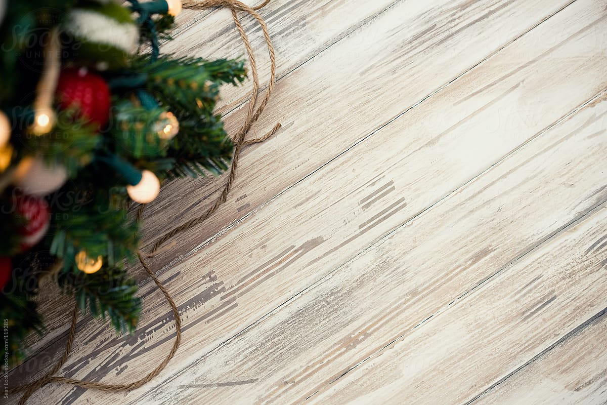 Christmas Wood Background.Holidays Christmas Tree And Wood Background By Sean Locke