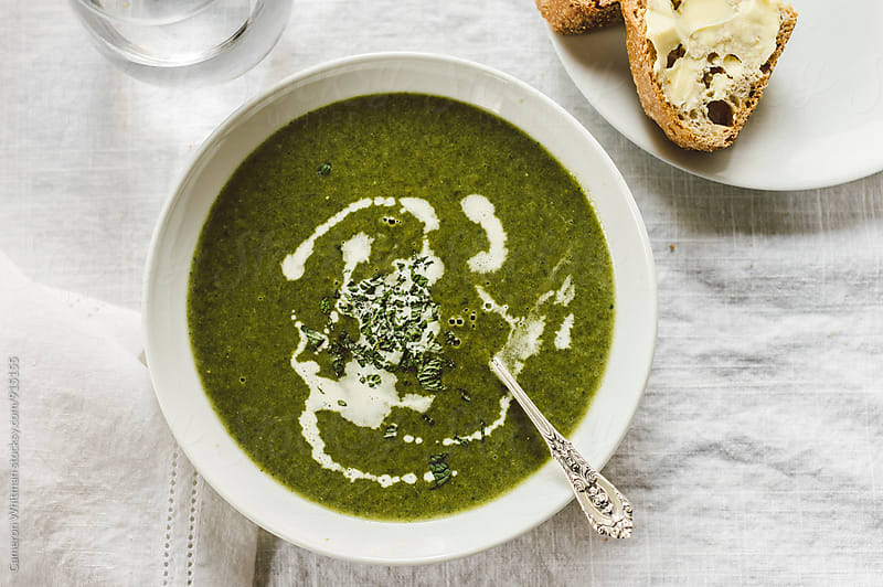 Healthy Greens Soup by Cameron Whitman for Stocksy United