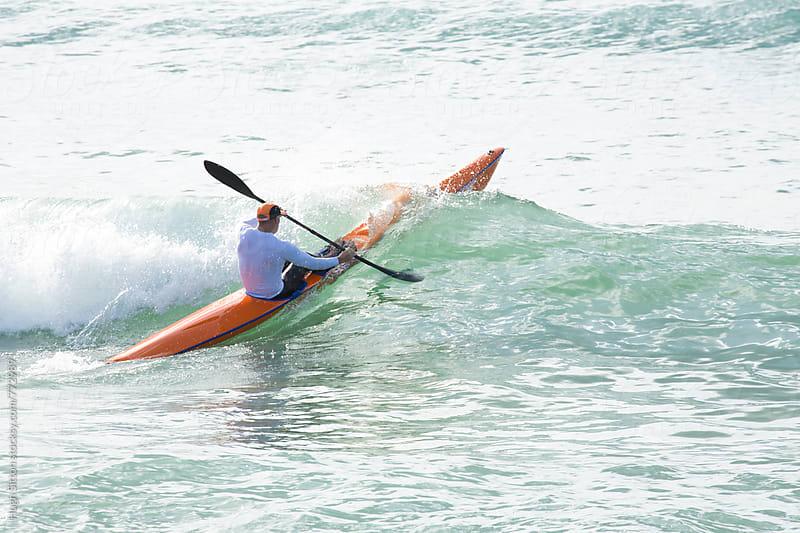Surf Ski Paddler. by Hugh Sitton for Stocksy United