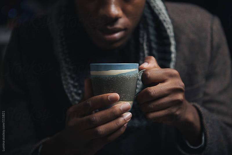 Man Drinking Tea by Lumina for Stocksy United