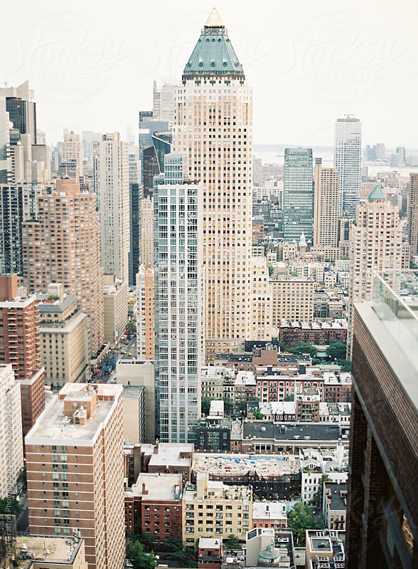 New York City Building Rooftop View  by Vicki Grafton Photography for Stocksy United
