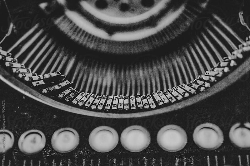 vintage typewriter keys  by Thais Ramos Varela for Stocksy United