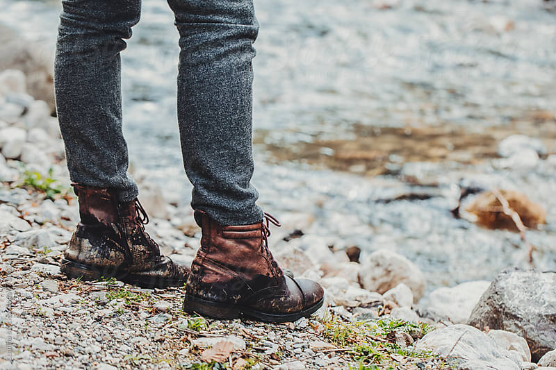 Man in Boots Outdoors by Lumina for Stocksy United