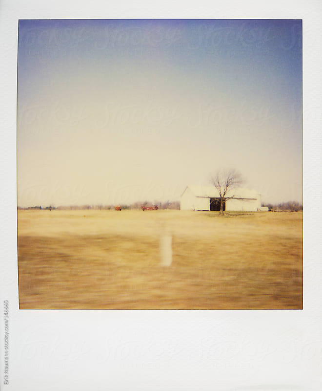 Polaroid of a the rural countryside by Erik Naumann for Stocksy United