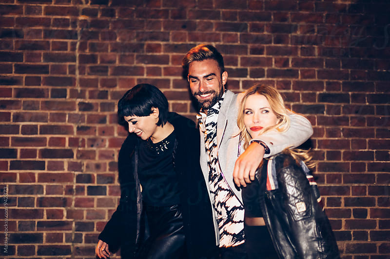 Group of Friends Night Out in London Uk by Mattia Pelizzari for Stocksy United