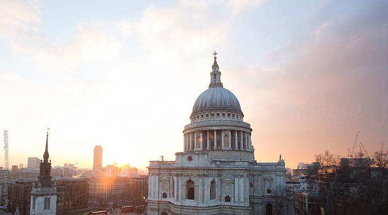 St Pauls Cathedral at sunset. London. UK by Hugh Sitton for Stocksy United