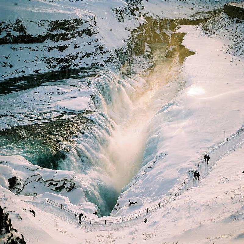 Gulfoss waterfall by Sam Burton for Stocksy United