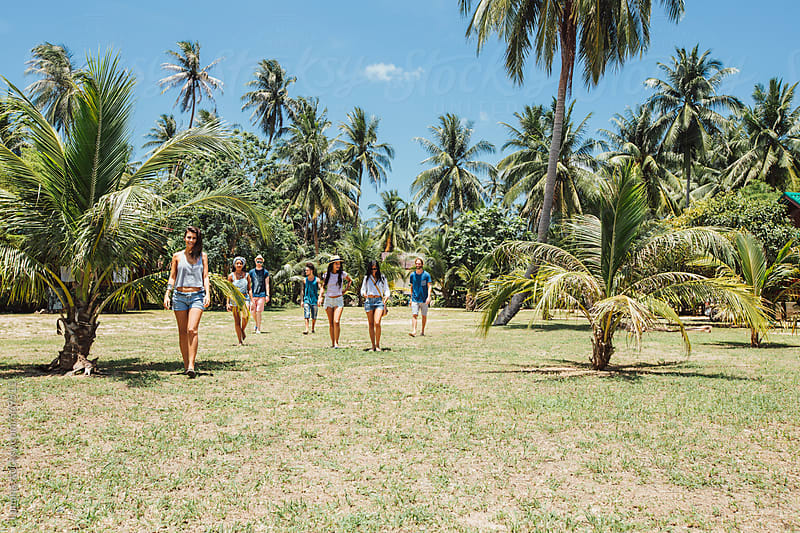 Group of Young People on Holiday in Thailand  by Lumina for Stocksy United