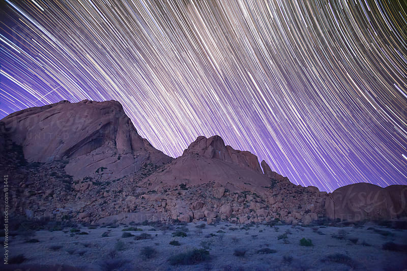 Star Lapse of Spitzkoppe mountains in Namibia by Micky Wiswedel for Stocksy United