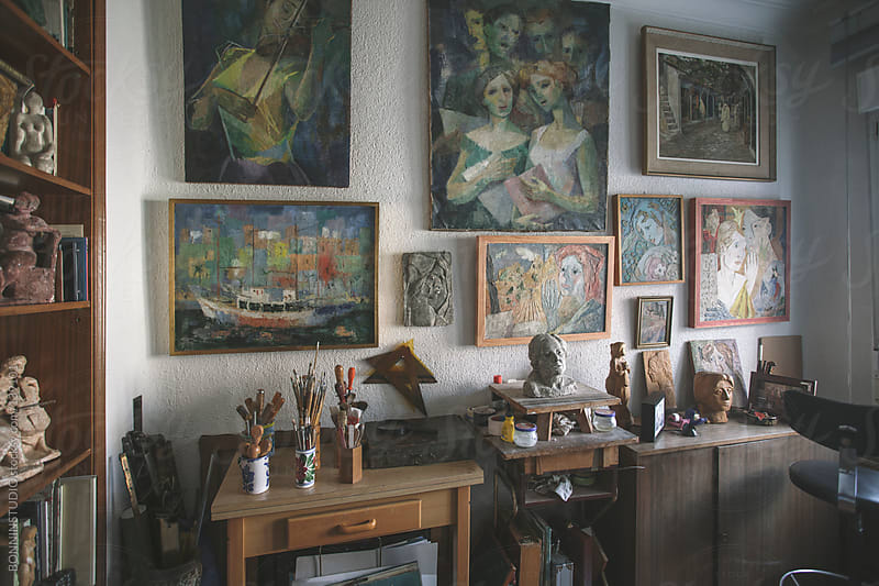 Studio of an authentic artist. by BONNINSTUDIO for Stocksy United