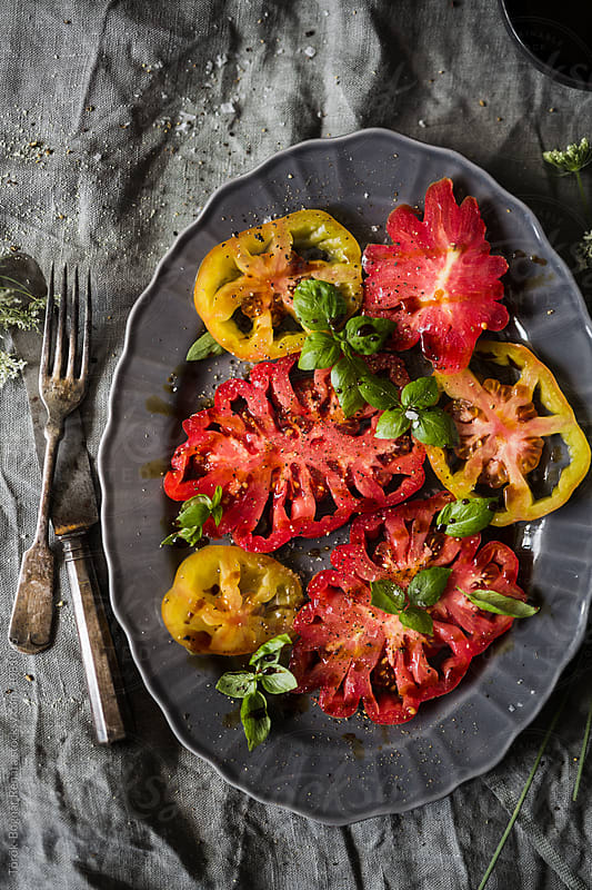 Fresh tomato salad by Török-Bognár Renáta for Stocksy United